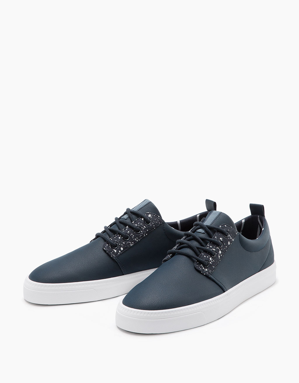 Men's lace-up flecked sneakers