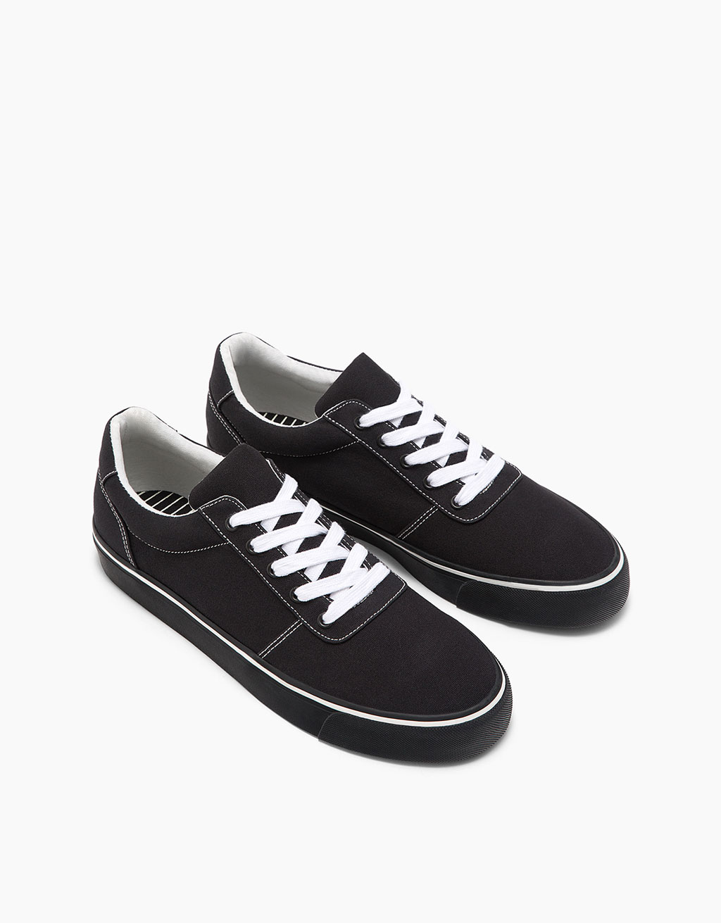 Men's black fabric sneakers