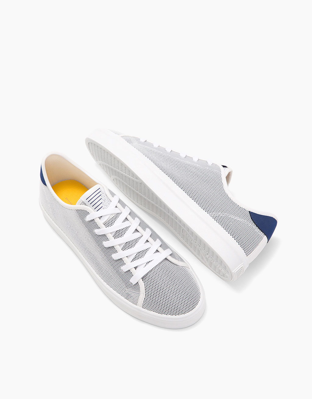 Men's mesh sneakers with coloured heel