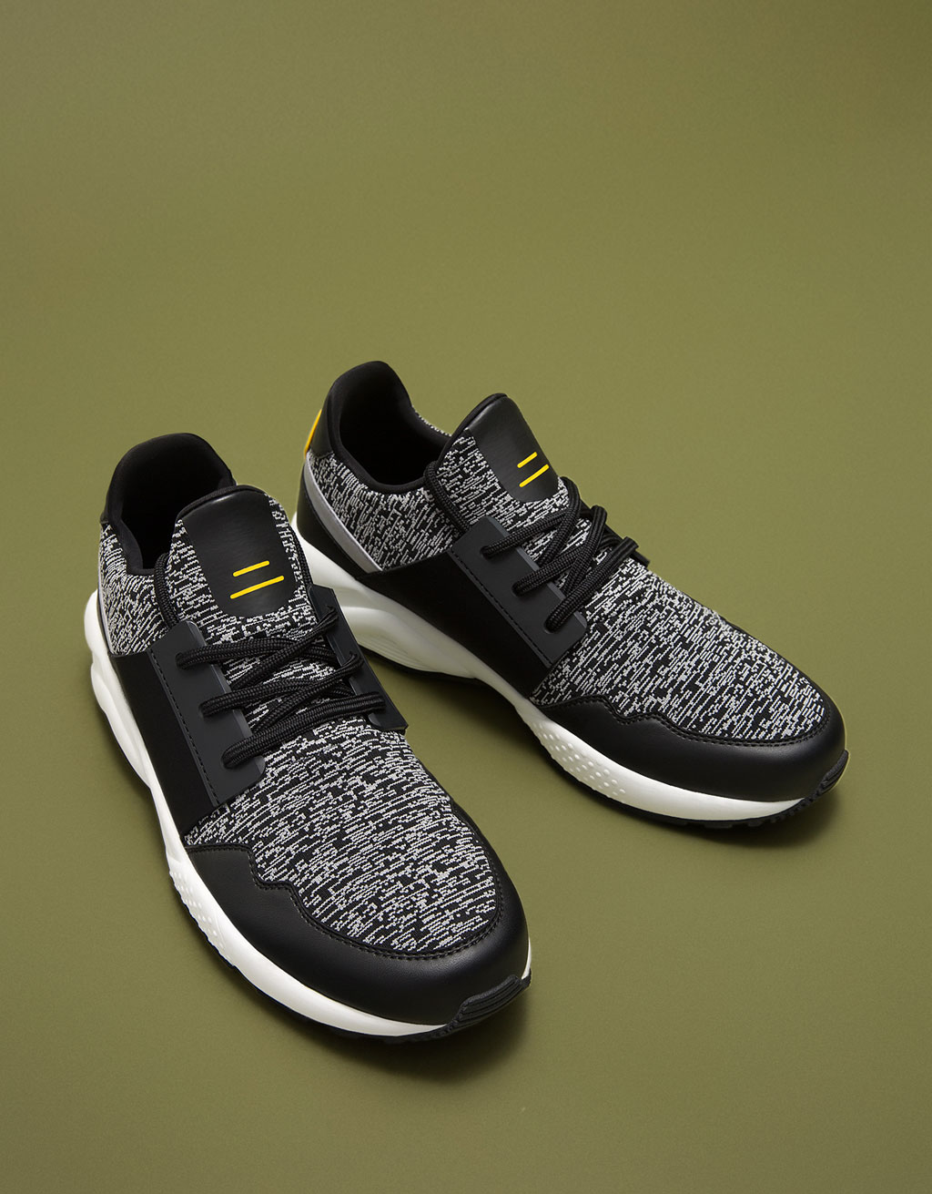 Lace-up sneakers in technical fabric