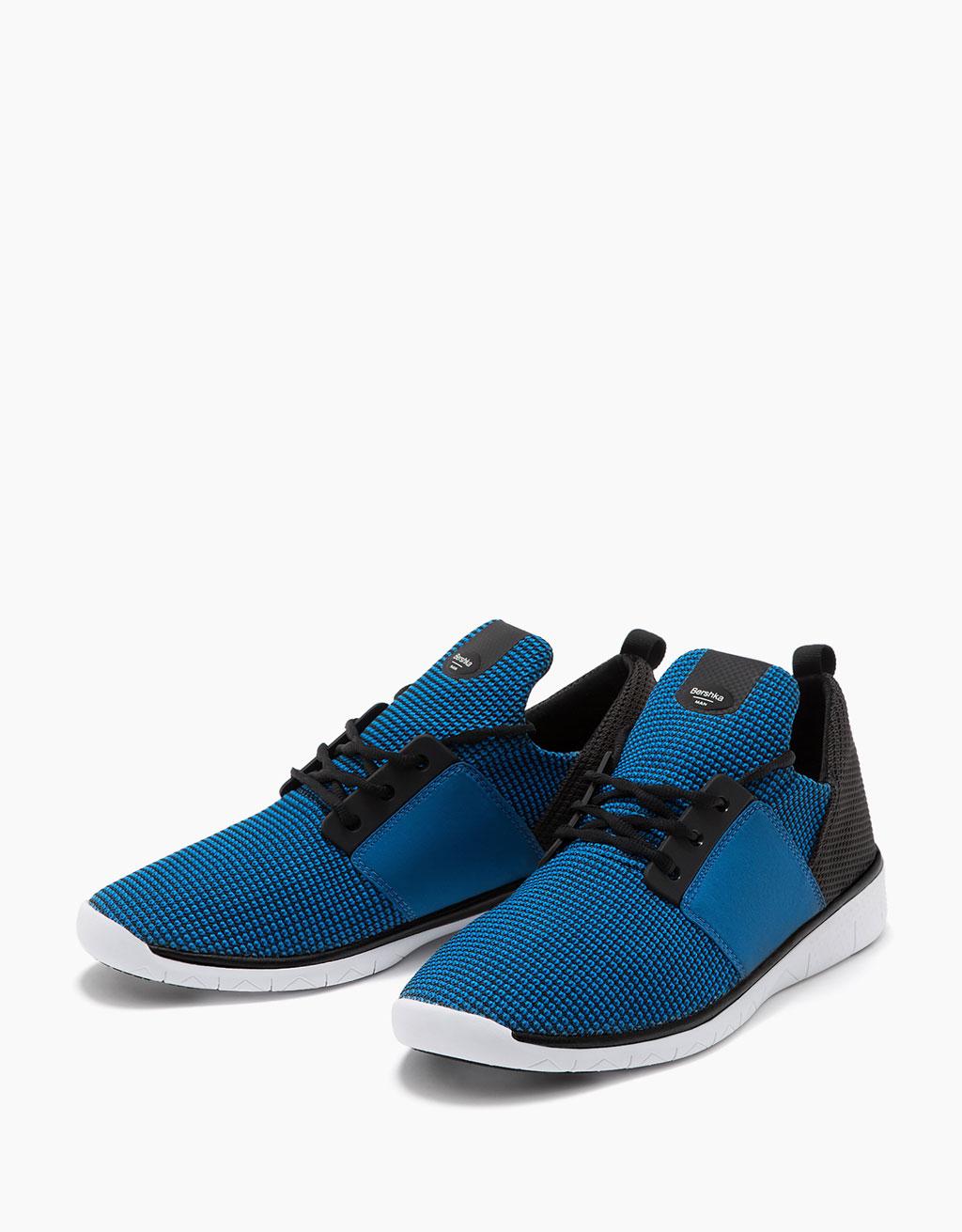 Men's technical fabric sneakers