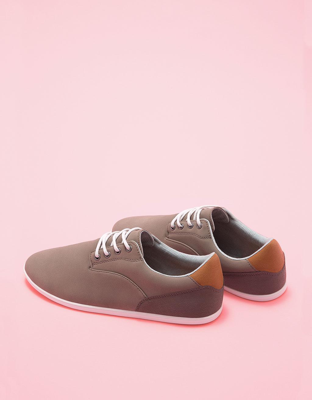 Men's combined lace-up shoes