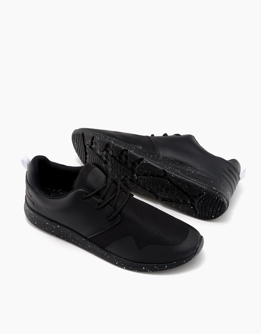 Men's flecked sole technical sports shoes