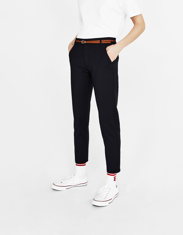 Pantalon chino ceinture