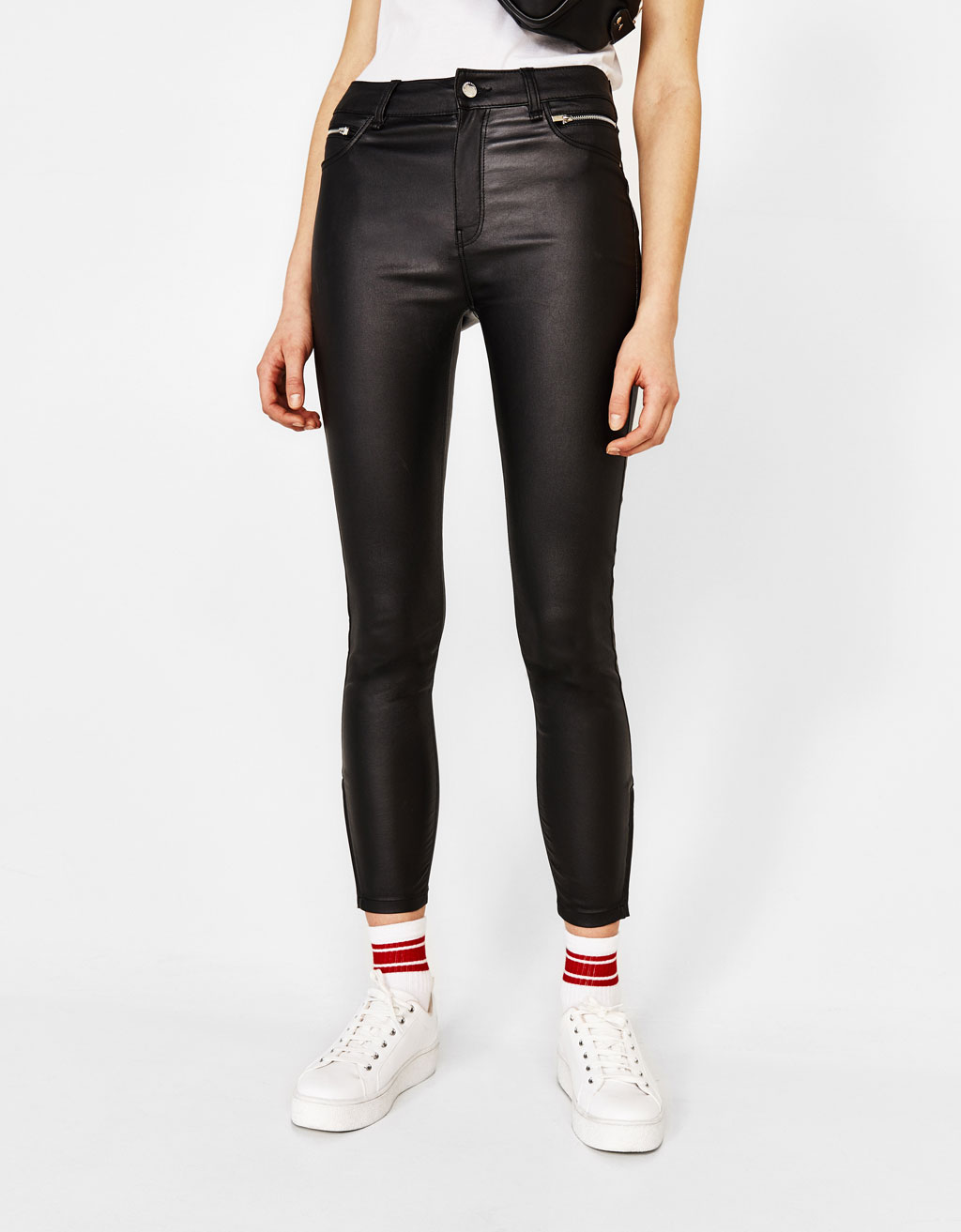 Skinny trousers with zips