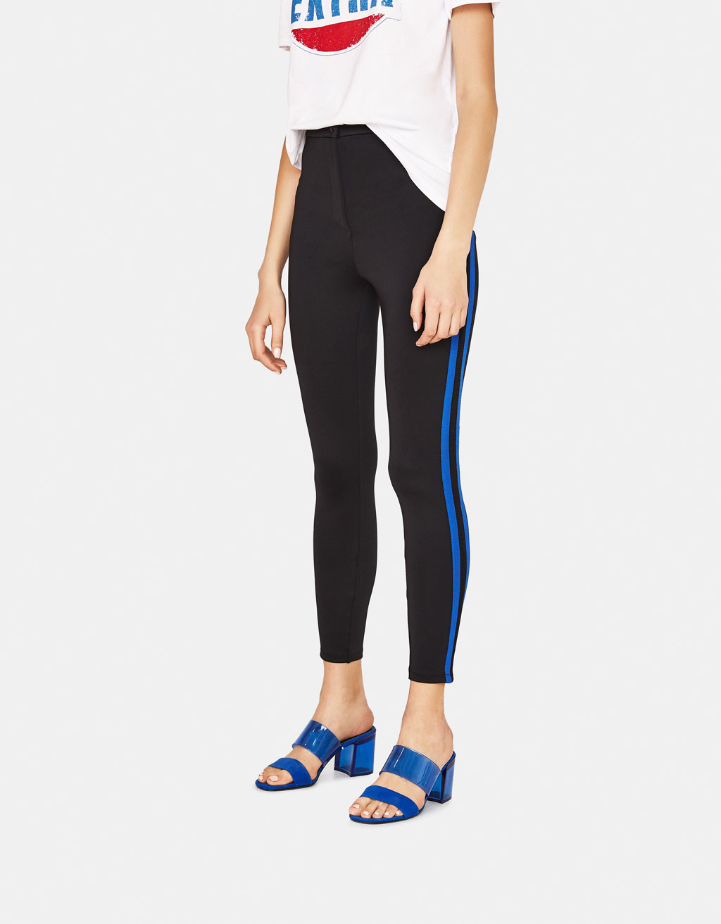 Leggings with side stripes