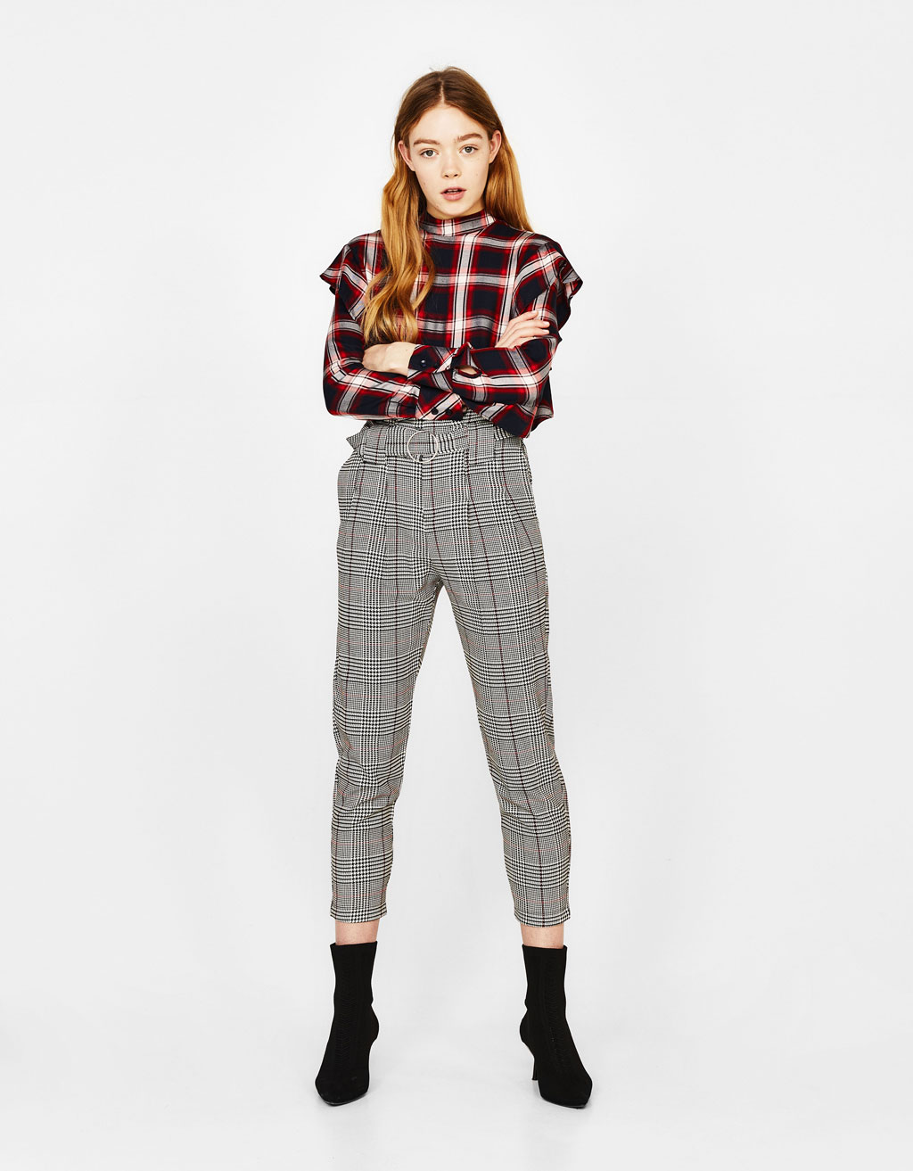 Carrot fit tailored trousers