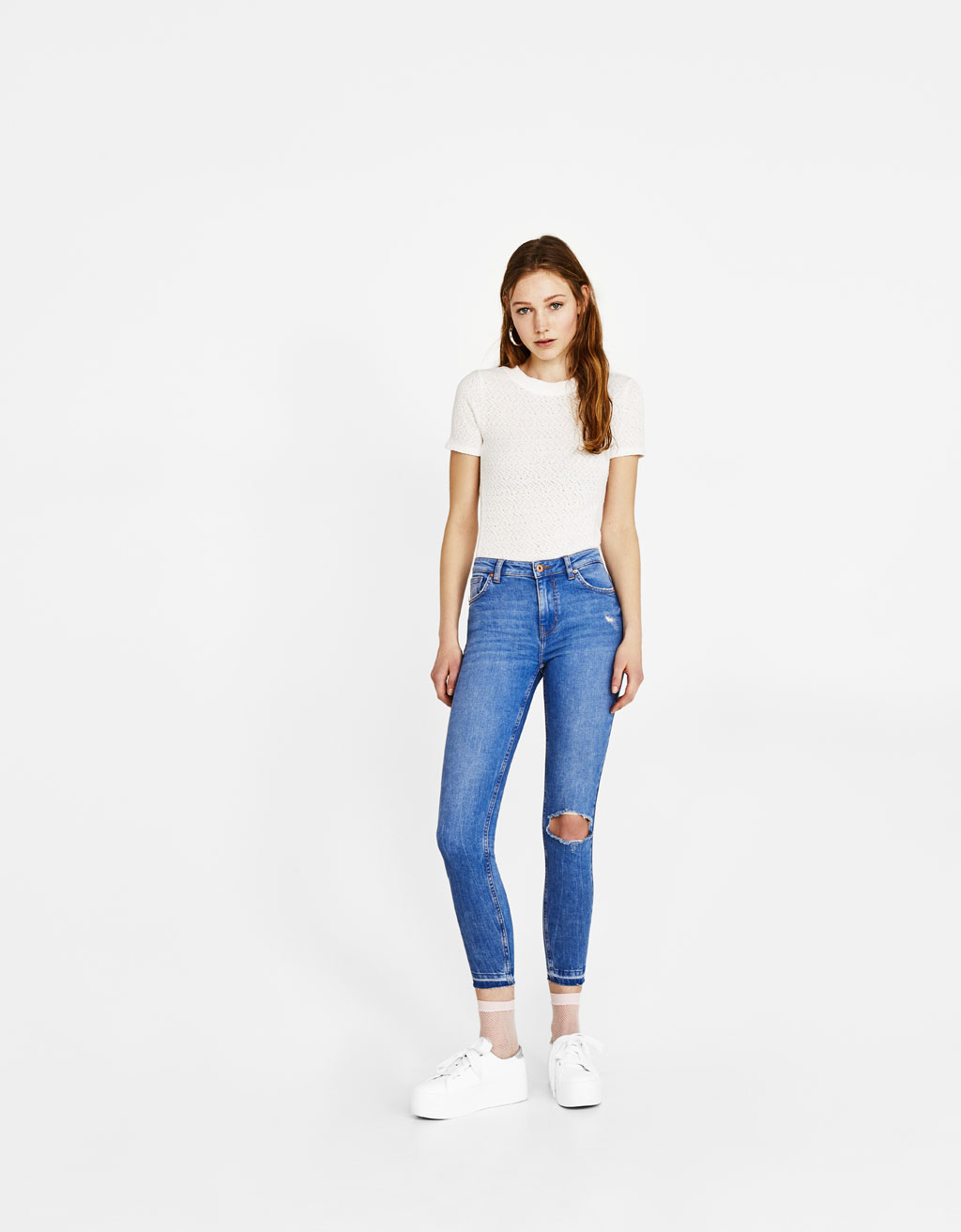 Skinny jeans with ecologically grown cotton