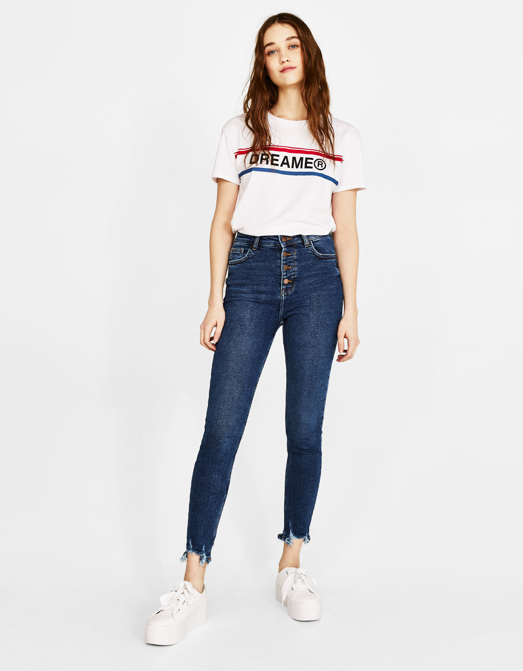 Jeans Skinny Fit con bottoni