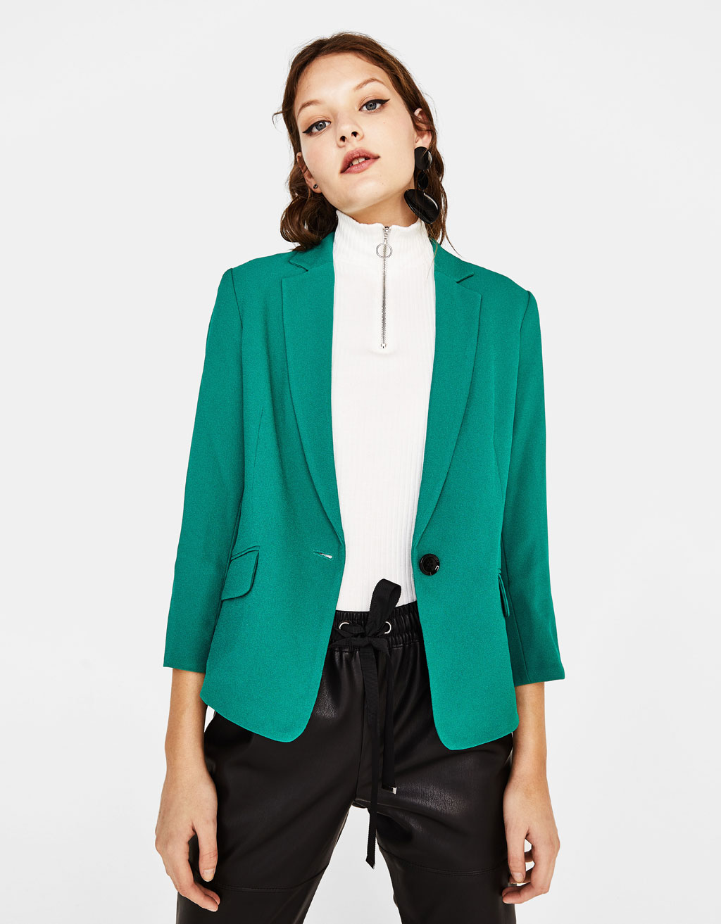 Tailored crepe blazer