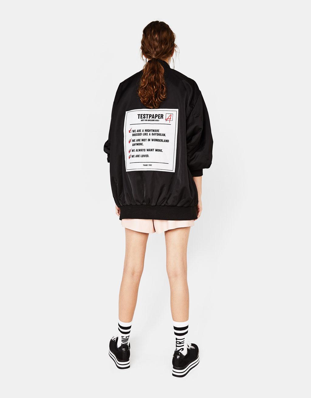オーバーサイズボンバージャケット