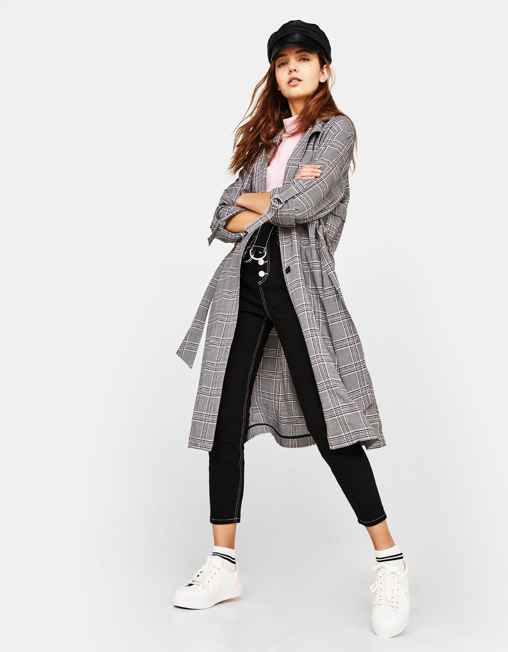Lightweight tailored trench coat