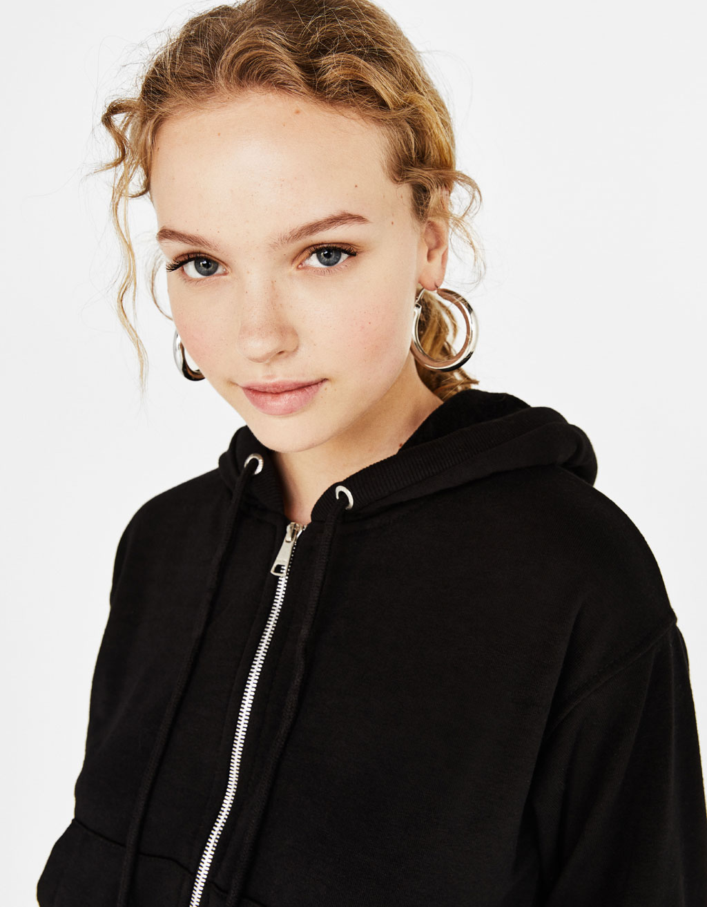 Cropped hooded jacket