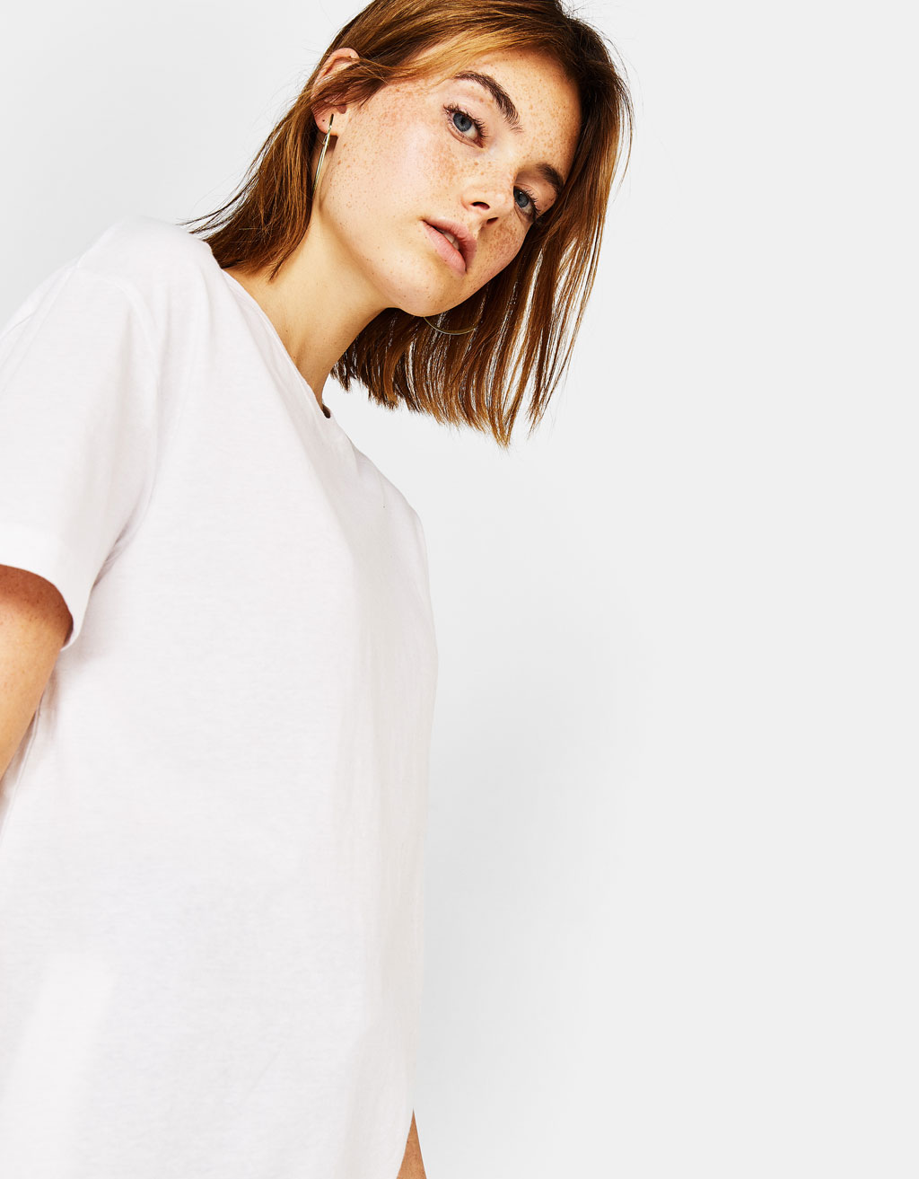 Oversized ecologically grown cotton T-shirt