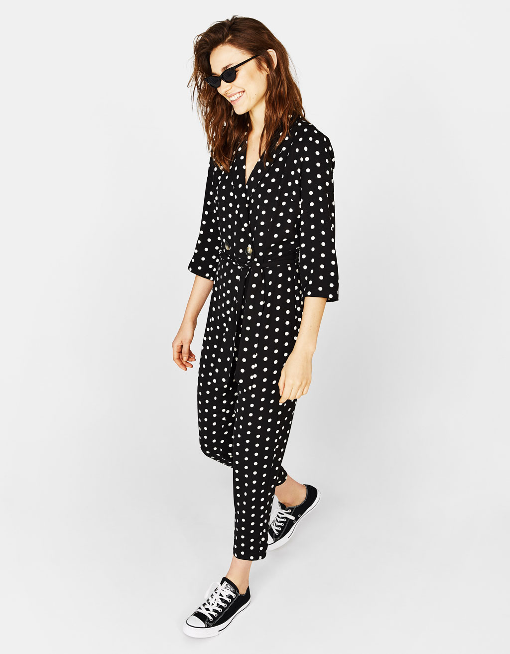 Long polka dot jumpsuit