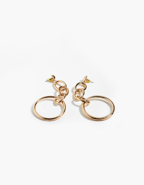 Earrings with hoops