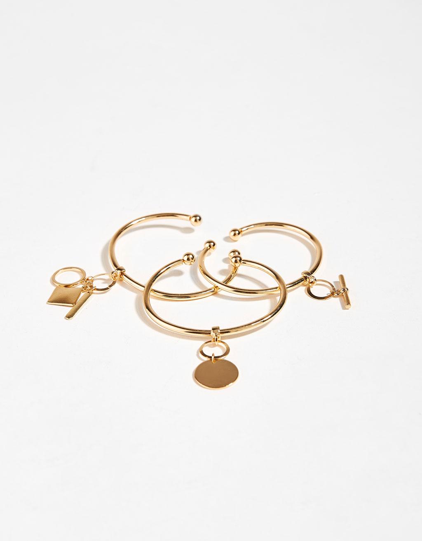 Set of charm bracelets