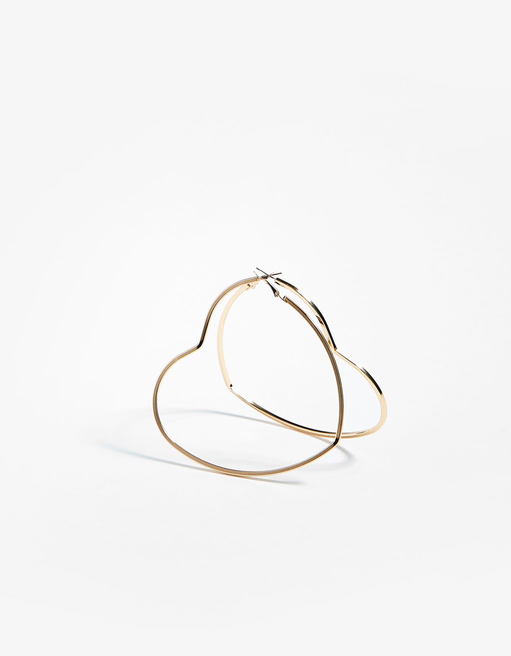 Heart-shaped hoop earrings