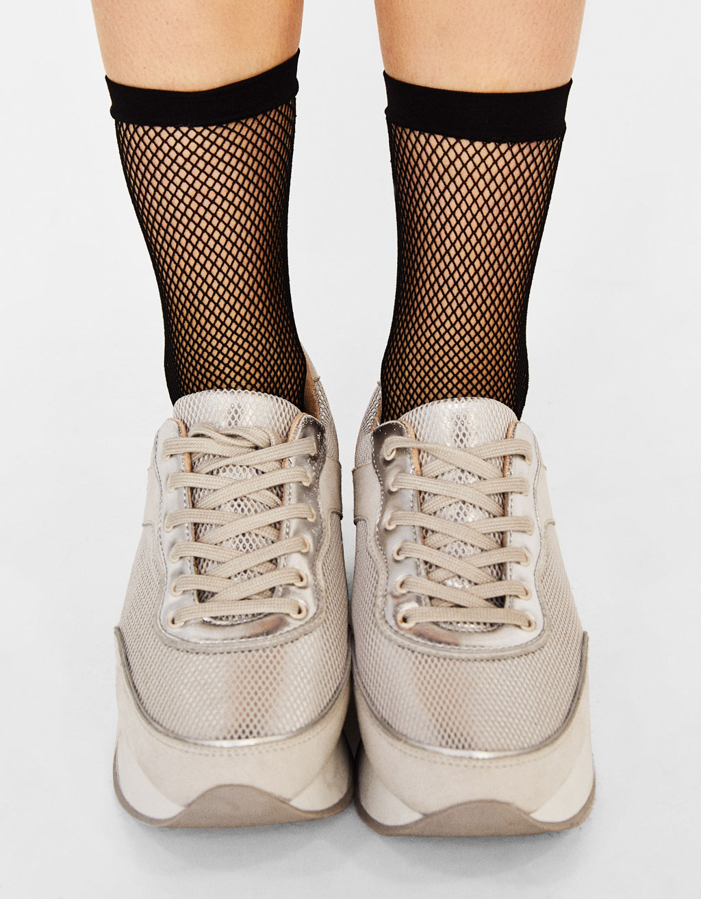 Black fishnet socks