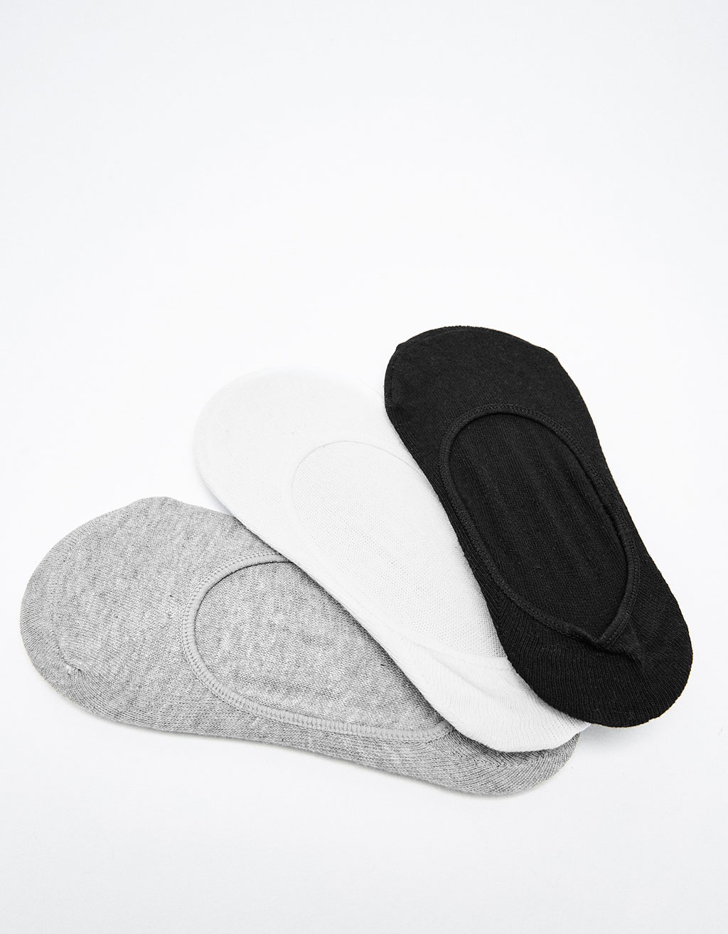 3-pack of no show socks