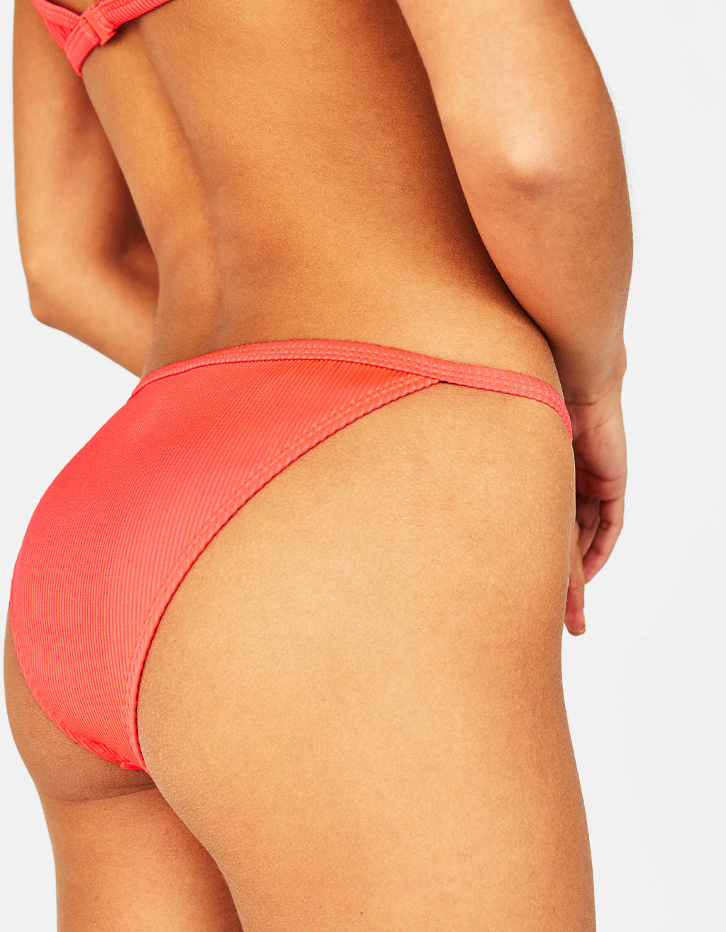 Plain-coloured bikini bottoms