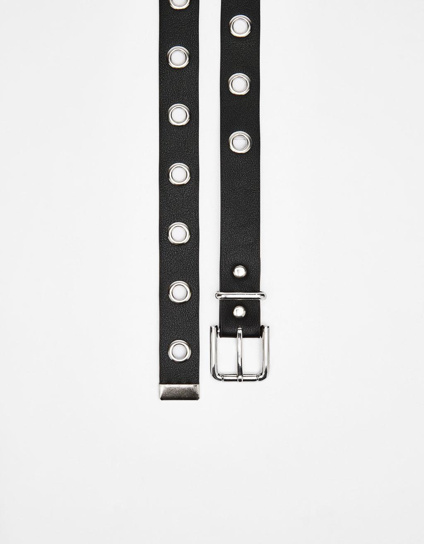 Long belt with eyelets