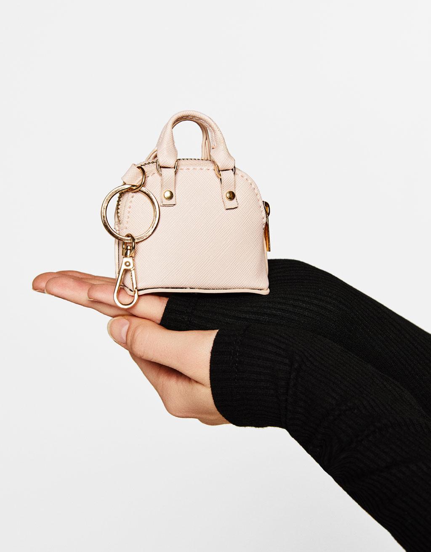 Mini handbag keyring