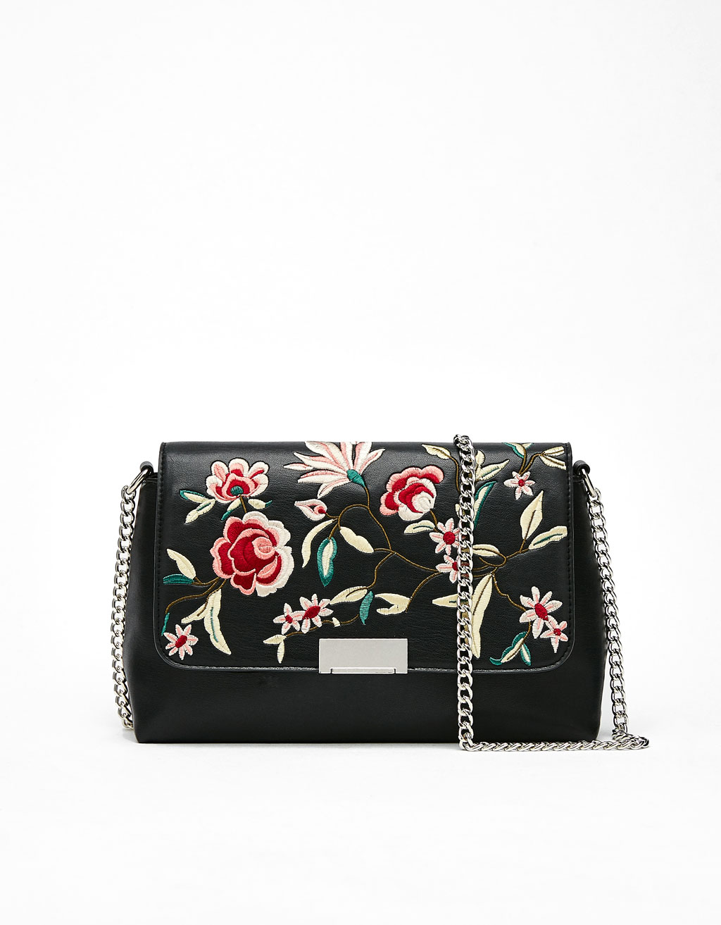 Bag with floral embroidery