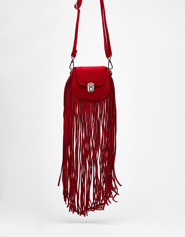 Small handbag with long fringing