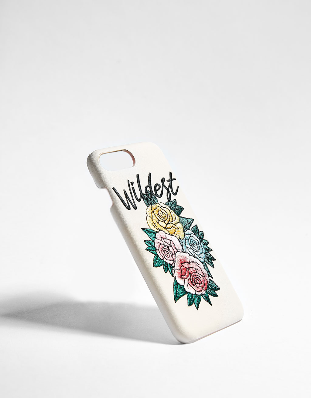 iPhone 6/6s/7/8 case with floral embroidery