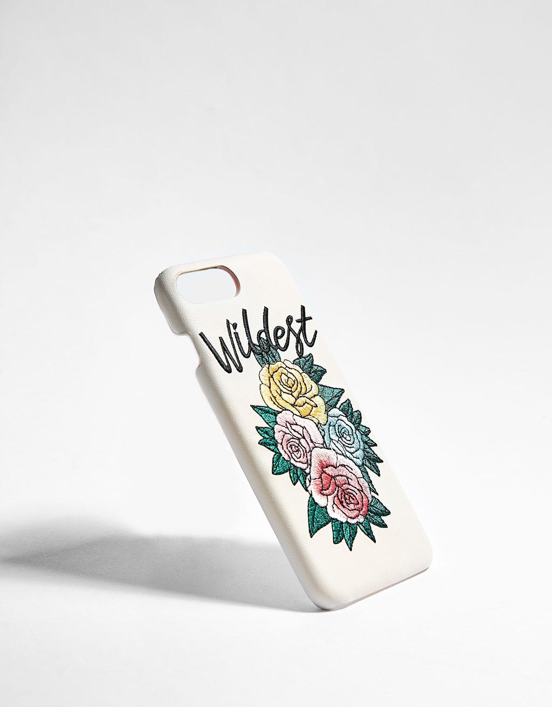Coque à broderie fleurs iPhone 6/6s/7/8