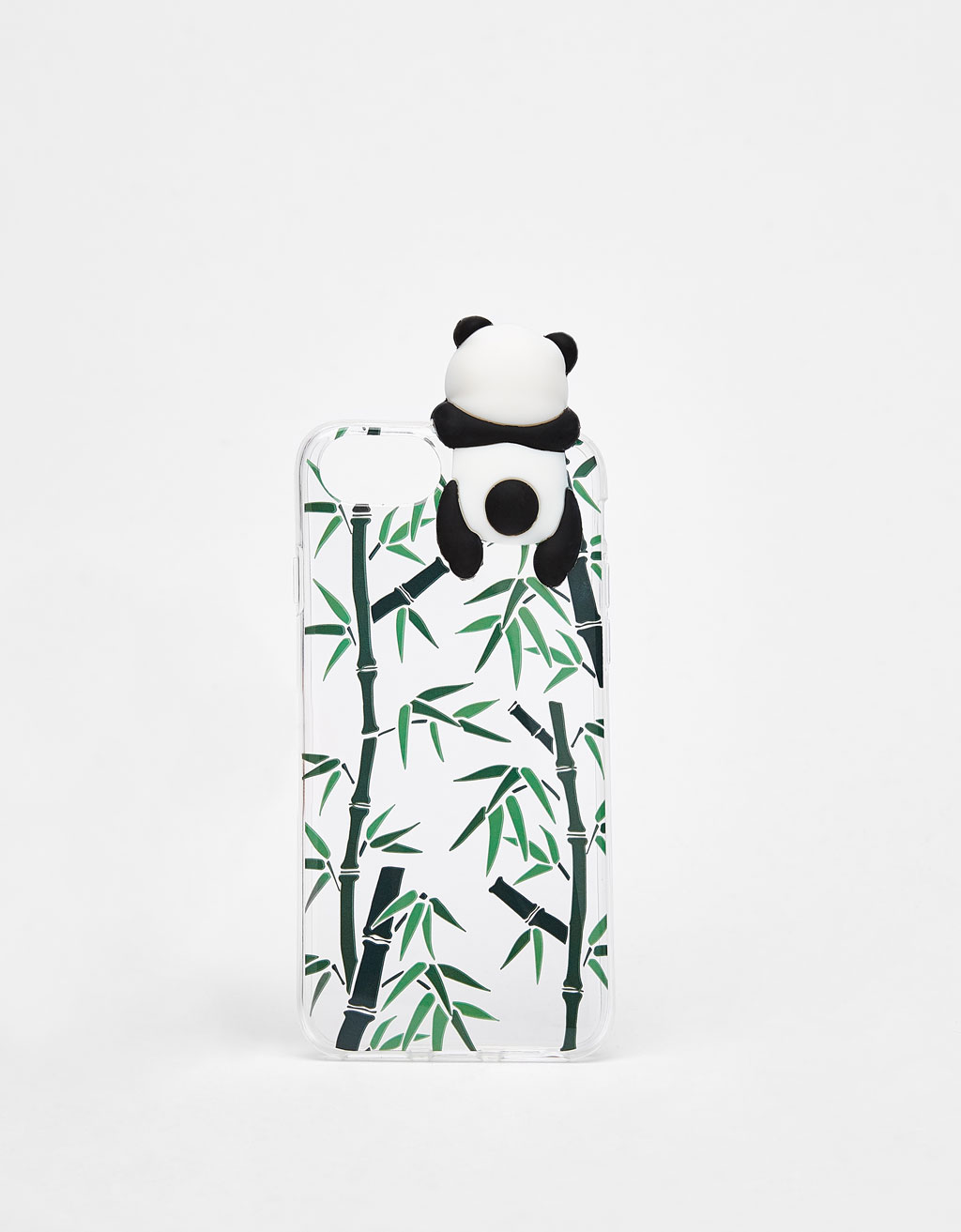 Transparent iPhone 6/6s/7/8 case with panda