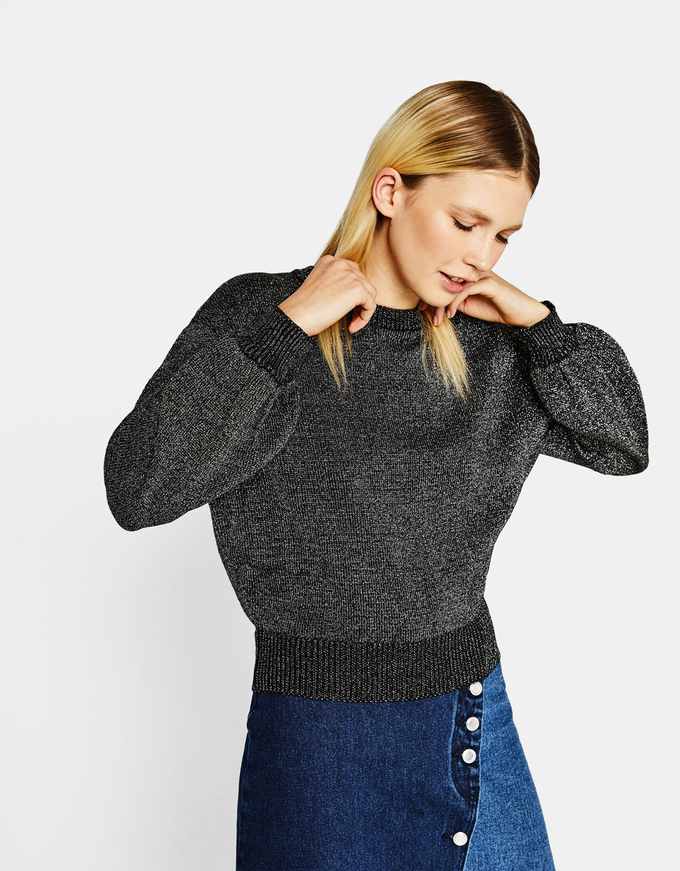 メタリックセーター