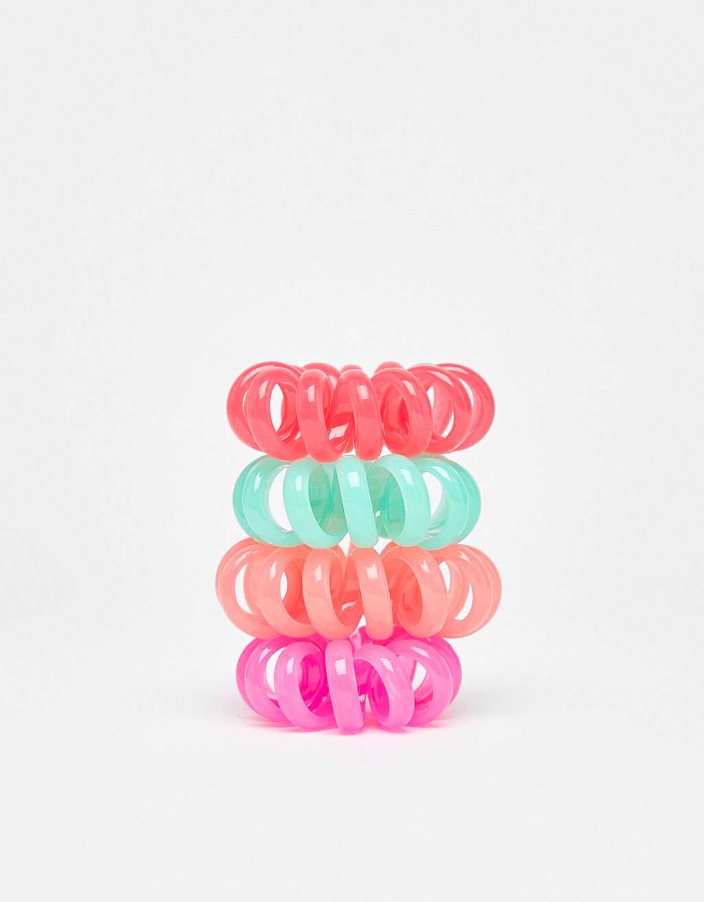 Set of 4 spiral scrunchies