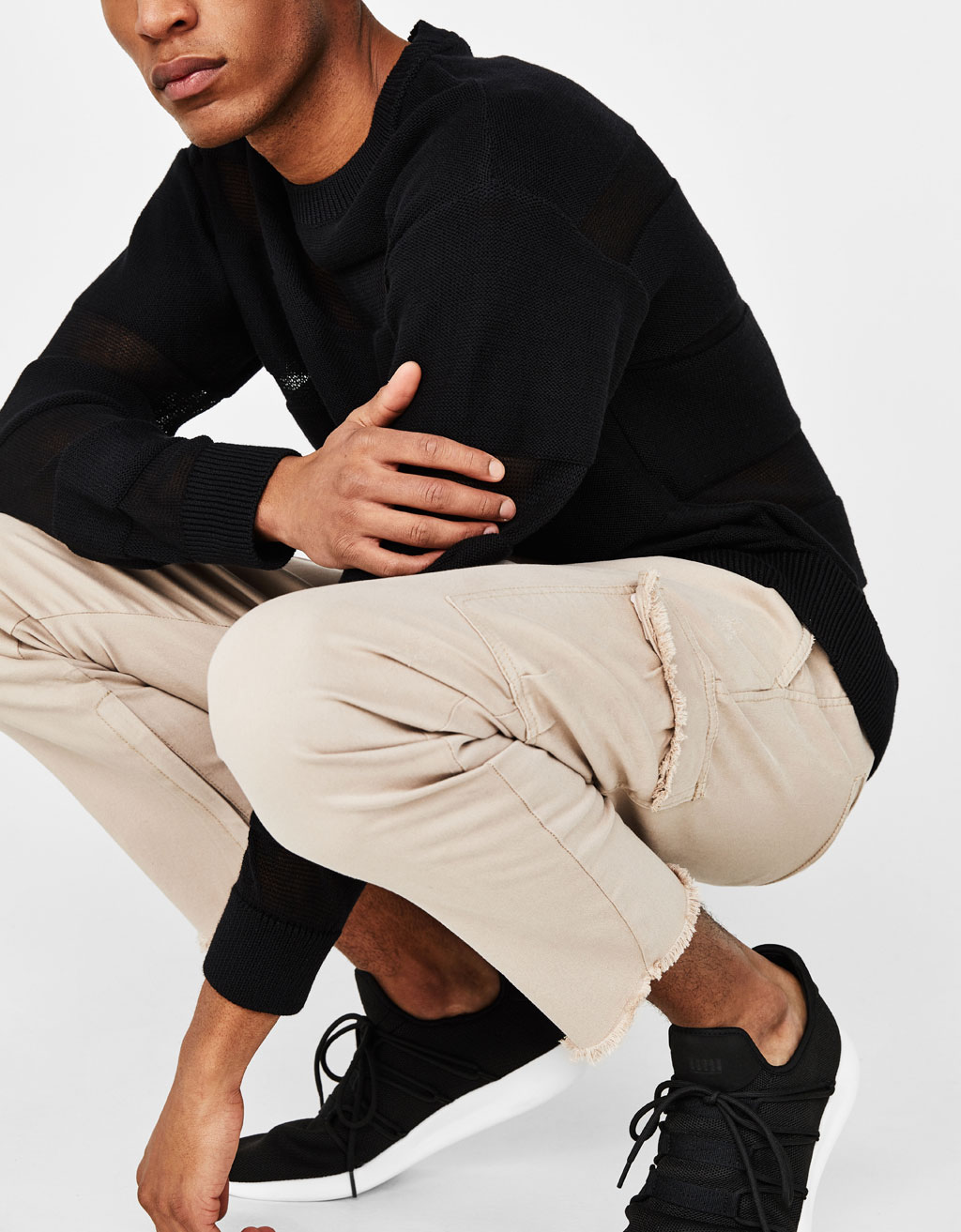 Ripped cargo trousers