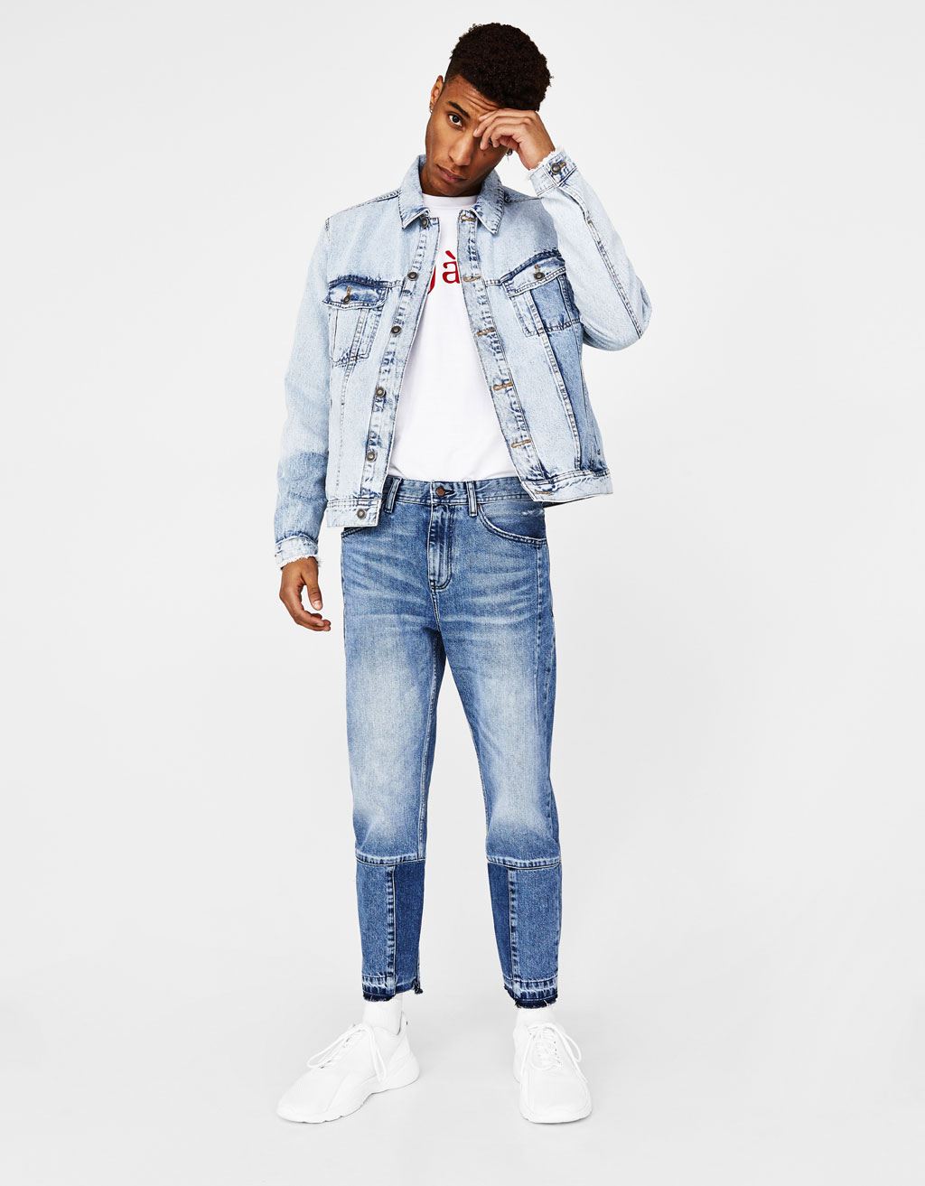 Boxy fit denim jacket
