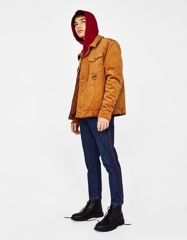 Corduroy bomber jacket