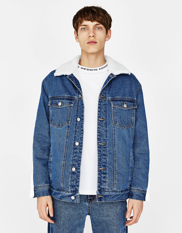 Denim jacket with bands