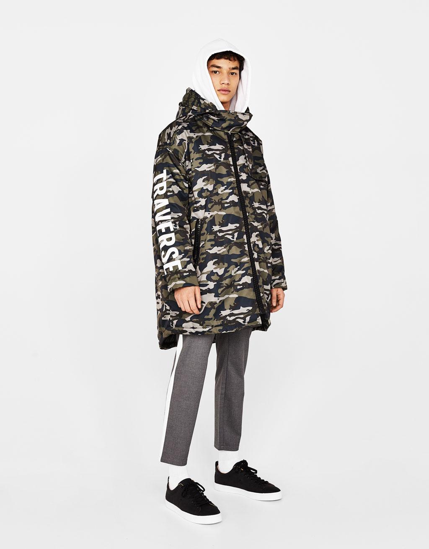 Camouflage parka