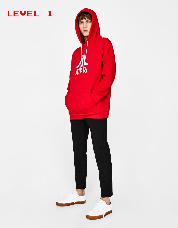 'ATARI' slogan hoodie