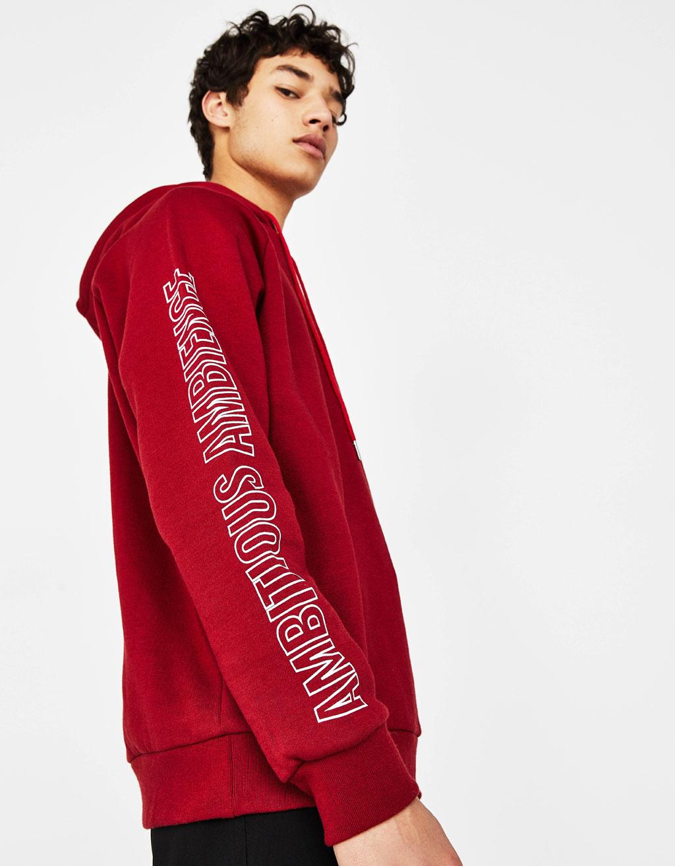 Sweatshirt with printed sleeves