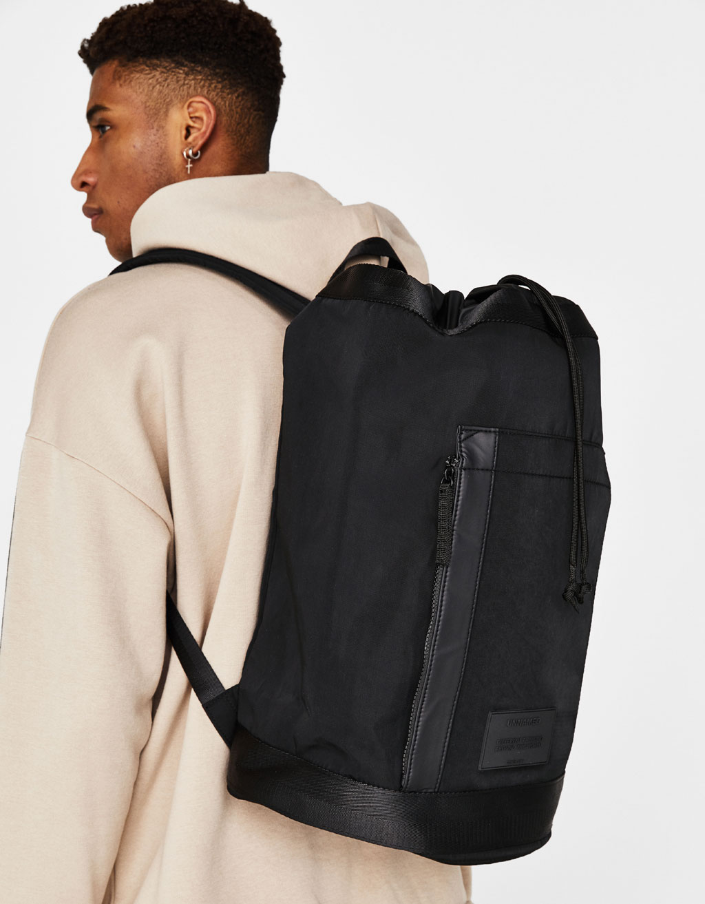 Sack-style backpack