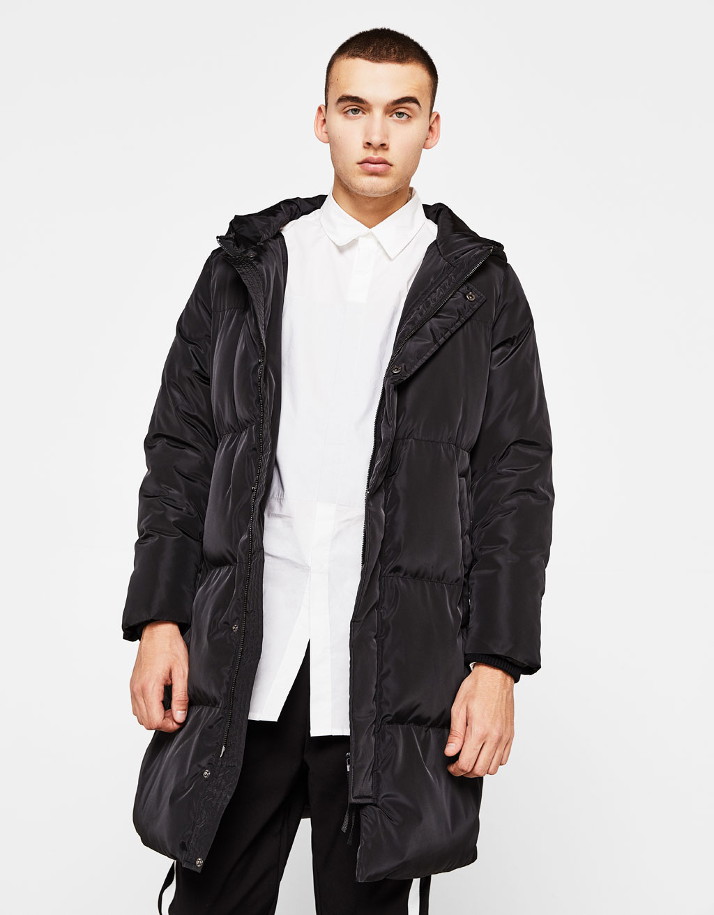 Cushioned puffy coat