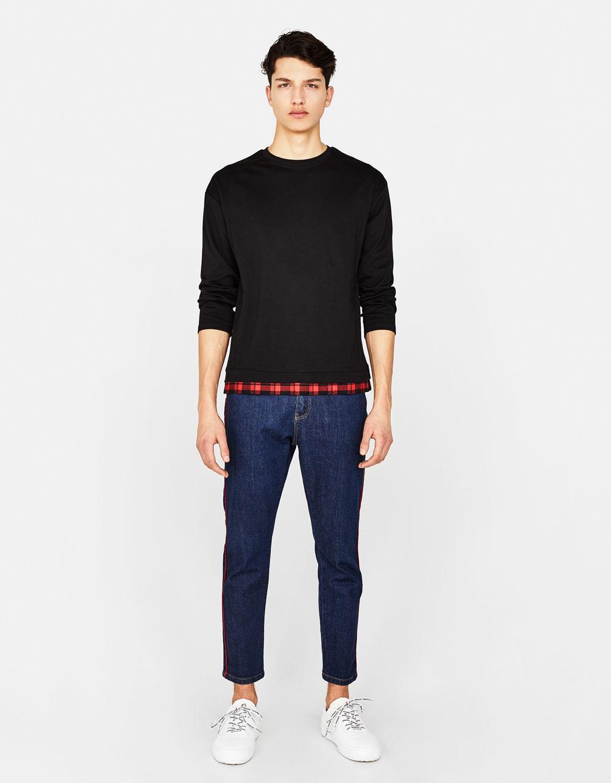 Double-layer sweatshirt