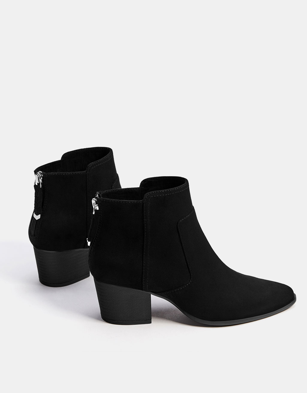 Zip cowboy ankle boots