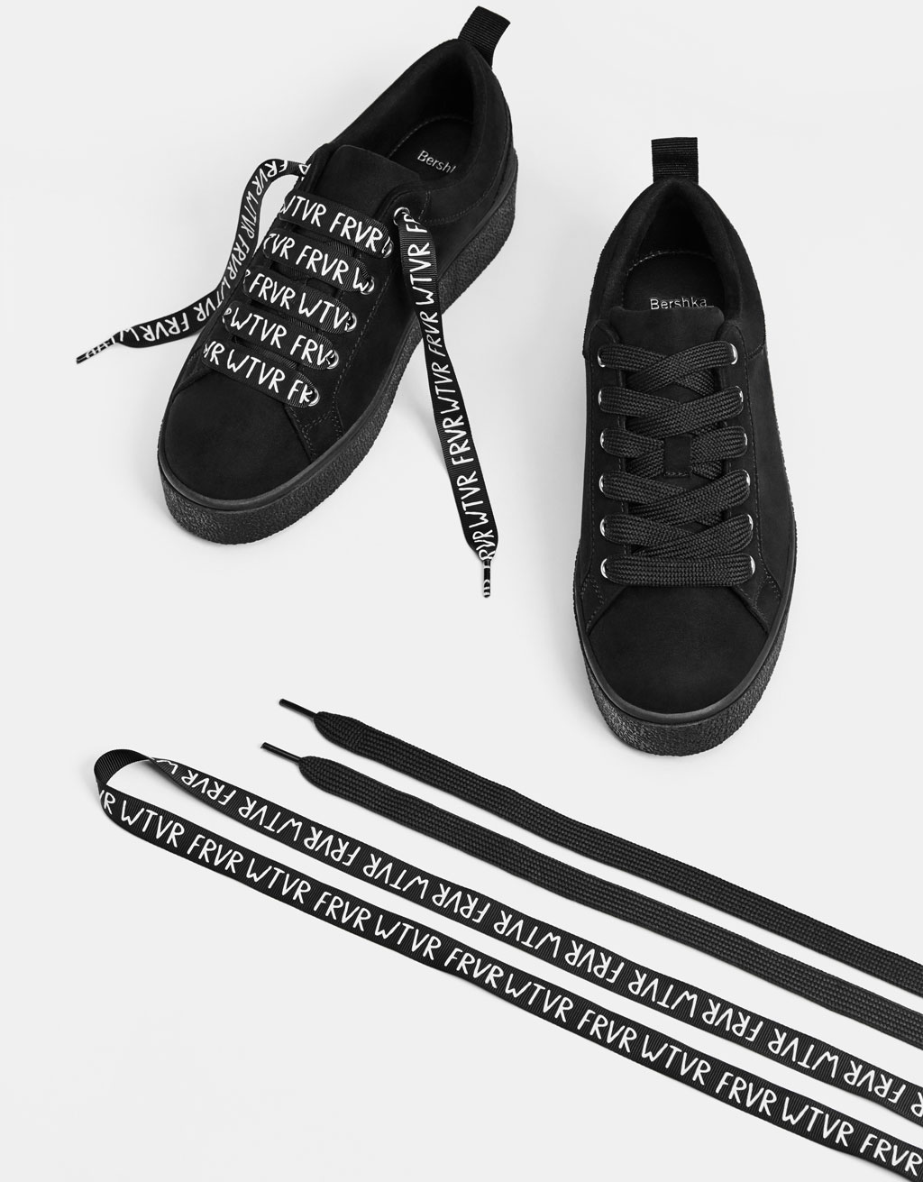 Black monochrome sneakers