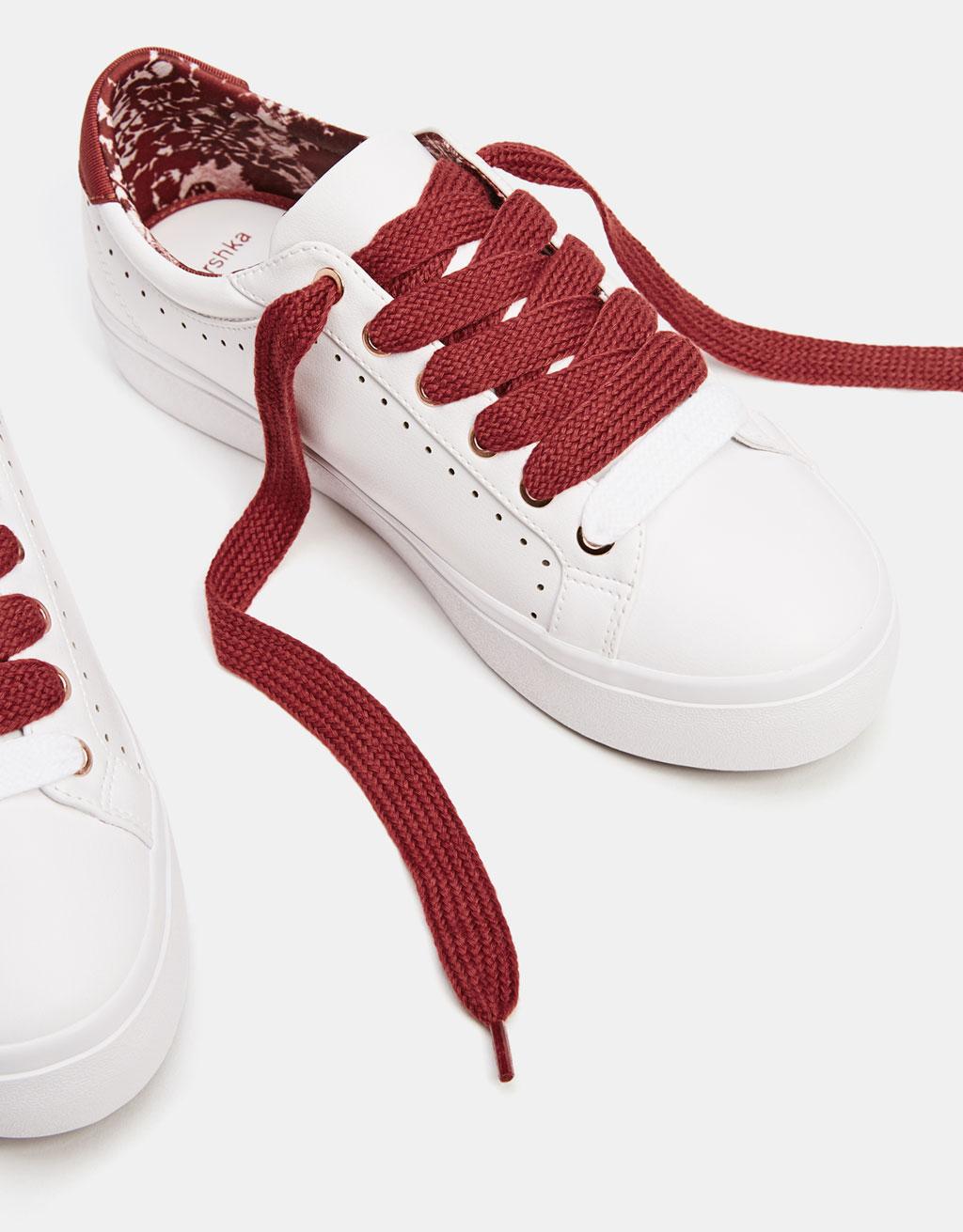 White die-cut sneakers