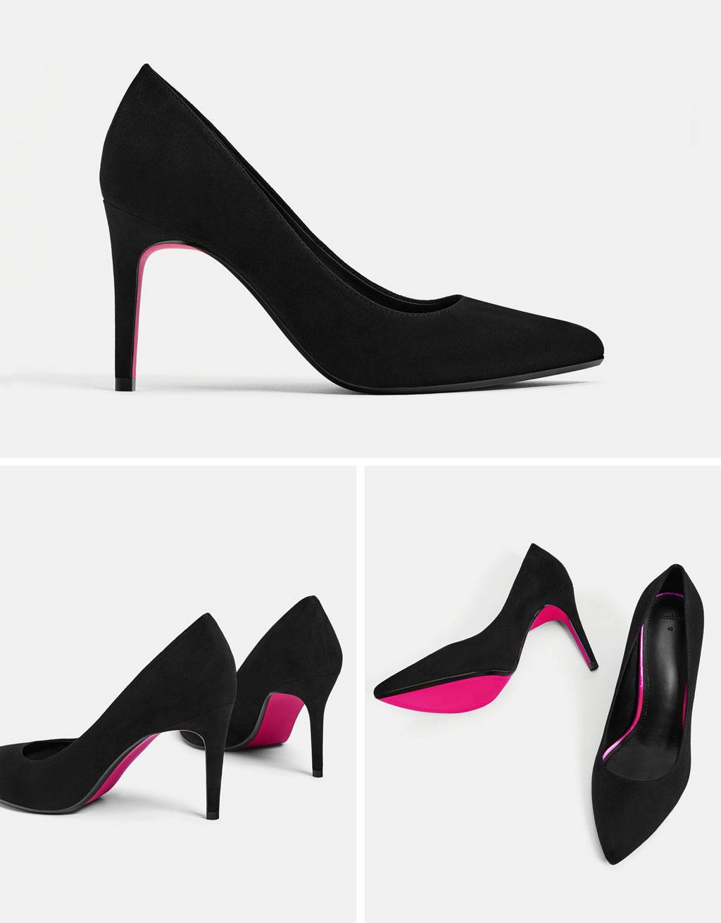 Stiletto heel shoes with contrasting soles