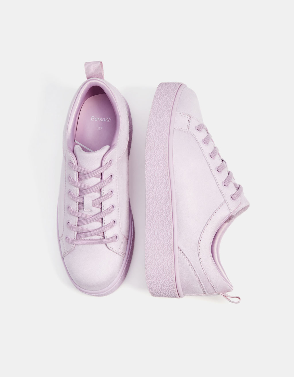 Lilac monochrome sneakers