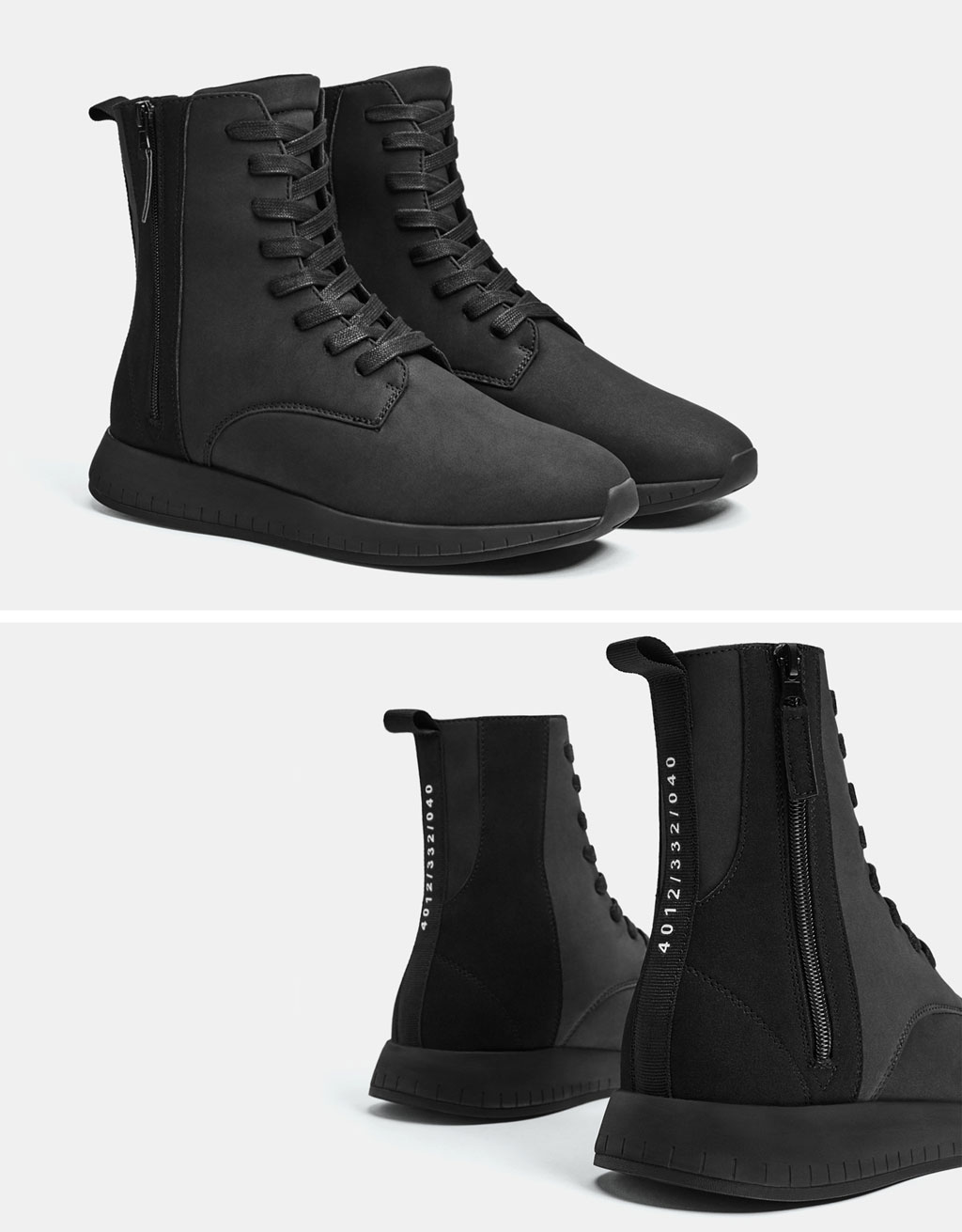 Men's monochrome high-top sneakers